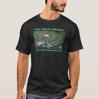 Cirkel Stad & VTOL Vliegtuig T Shirt