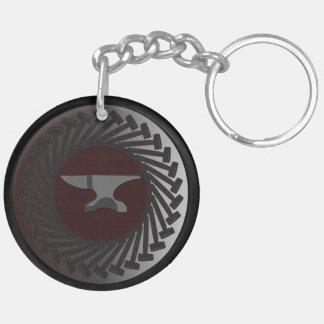 Cirkel (tweezijdige) Keychain - AAMBEELD & HAMERS Sleutelhanger