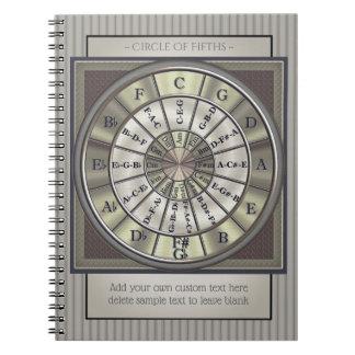 Cirkel van het Dagboek van de Musici van Vijfden Notitieboek
