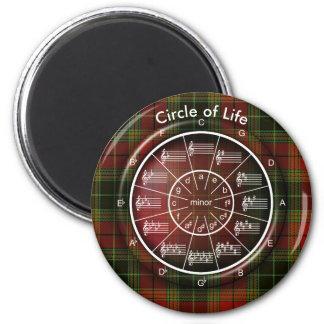 Cirkel van het Leven van Vijfden in Plaid Magneet
