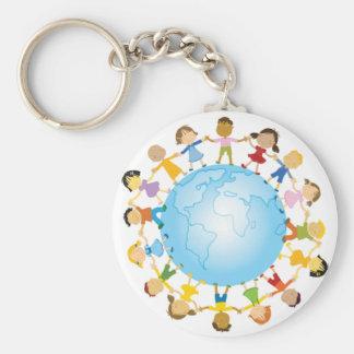 Cirkel van Kinderen rond de Wereld Sleutelhanger