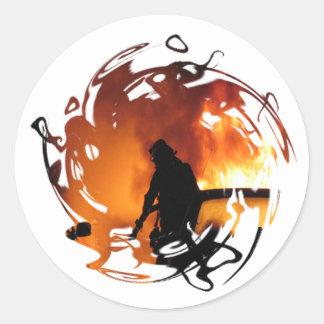 Cirkel van Vlammen Ronde Sticker