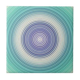 Cirkels - aqua blauwgroen turkoois cyaanblauw tegeltje
