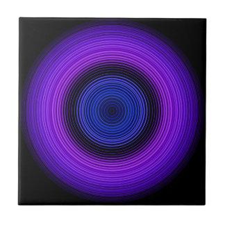 Cirkels - Blauw Tegeltje