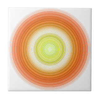 Cirkels - citrusvruchtenkleuren tegeltje