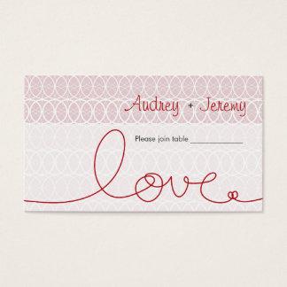 Cirkels + Lijst van de Douane van de liefde de Visitekaartjes