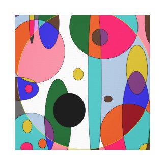 Cirkels van kleur canvas print
