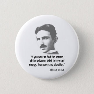 Citaat door Nikola Tesla Ronde Button 5,7 Cm