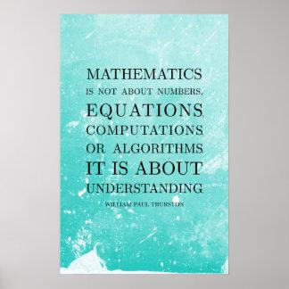 Citaat door Thurston - de Posters van de Wiskunde