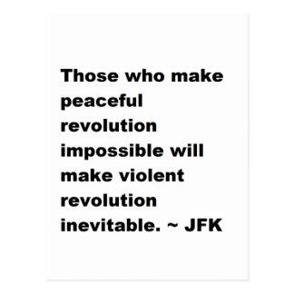 Citaat JFK Briefkaart