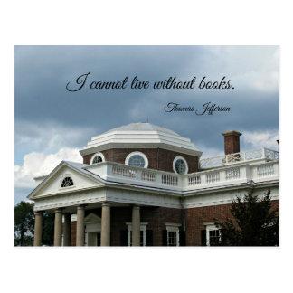 Citaat over Boeken door Thomas Jefferson Briefkaart