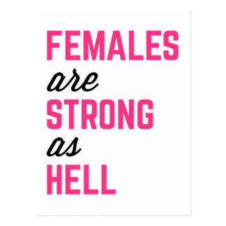 Citaat van de Gymnastiek van de Hel van vrouwen Briefkaart