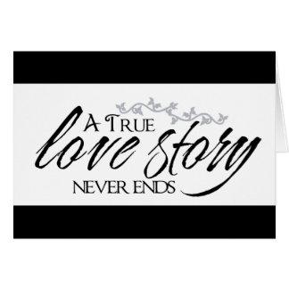 Citaat van de Liefde van Love Story het Zwarte & Wenskaart