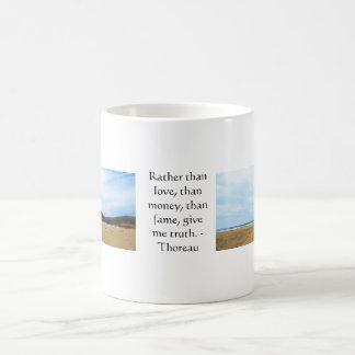 Citaat van de WAARHEID van Henry David Thoreau het Koffiemok