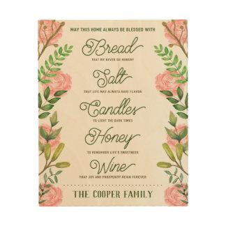 Citaat van de Wijn van het Brood van het Hout Afdruk