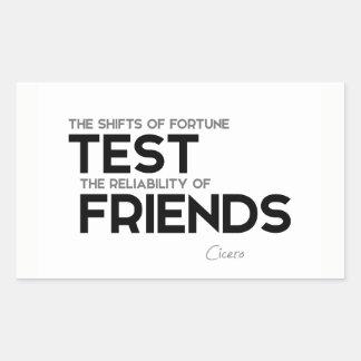 CITEERT: Cicero'n: Betrouwbaarheid van vrienden Rechthoekige Sticker