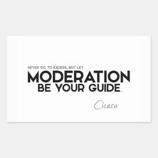CITEERT: Cicero'n: De matiging is uw gids Rechthoekige Sticker