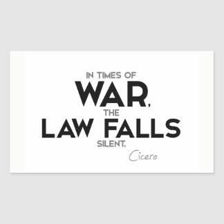 CITEERT: Cicero'n: De wet valt stil Rechthoekige Sticker