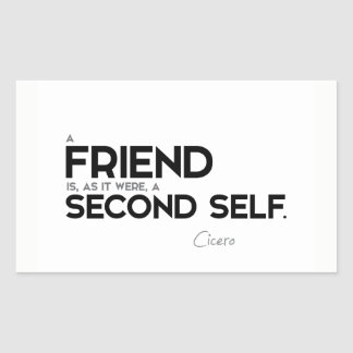 CITEERT: Cicero'n: Een vriend: tweede zelf Rechthoekige Sticker