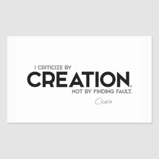 CITEERT: Cicero'n: Kritiseer door verwezenlijking Rechthoekige Sticker