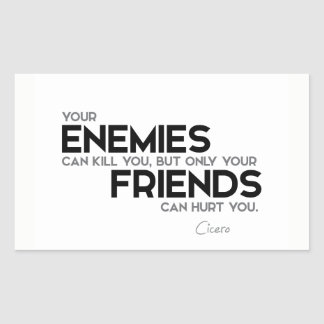 CITEERT: Cicero'n: Slechts kunnen de vrienden u Rechthoekige Sticker