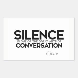 CITEERT: Cicero'n: Stilte, gesprek Rechthoekige Sticker