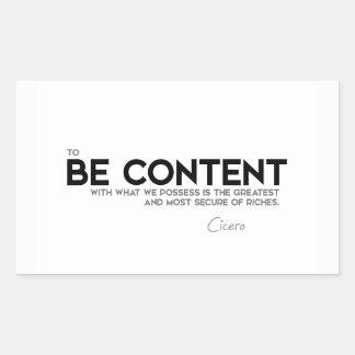 CITEERT: Cicero'n: Tevreden ben Rechthoekige Sticker