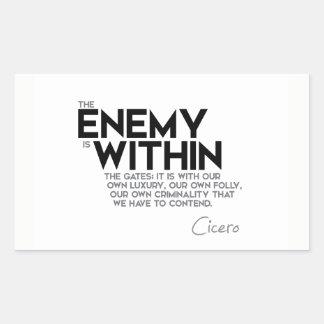 CITEERT: Cicero'n: Vijand binnen de poorten Rechthoekige Sticker