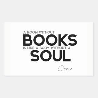CITEERT: Cicero'n: Zaal zonder boeken Rechthoekige Sticker