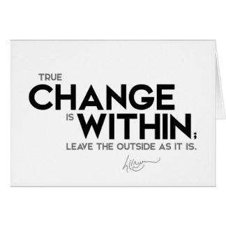 CITEERT: Dalai Lama - de Ware verandering is Briefkaarten 0