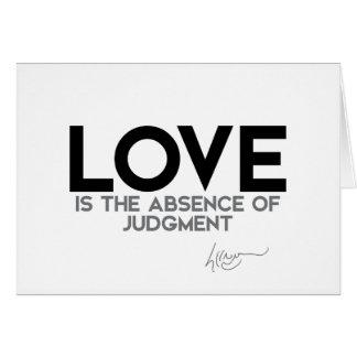 CITEERT: Dalai Lama - Liefde, oordeel Briefkaarten 0