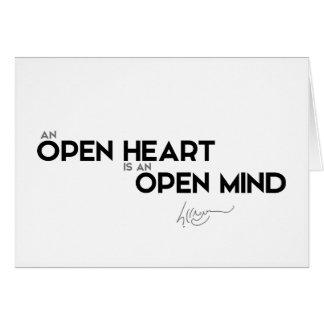 CITEERT: Dalai Lama - Open hart, open mening Briefkaarten 0