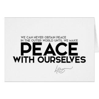 CITEERT: Dalai Lama - Vrede met ons Kaart