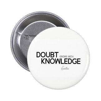 CITEERT: Goethe: De twijfel groeit met kennis Ronde Button 5,7 Cm