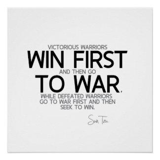 CITEERT: Sun Tzu - win eerst Poster