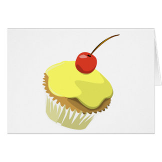 Citroen cupcake met de sjabloonproducten van de briefkaarten 0