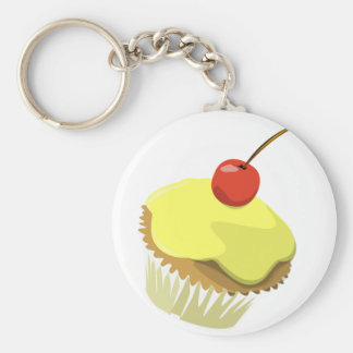 Citroen cupcake met de sjabloonproducten van de Ke Basic Ronde Button Sleutelhanger