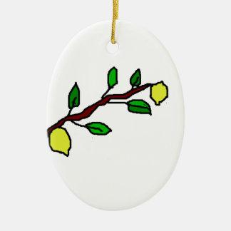 citroen takje keramisch ovaal ornament