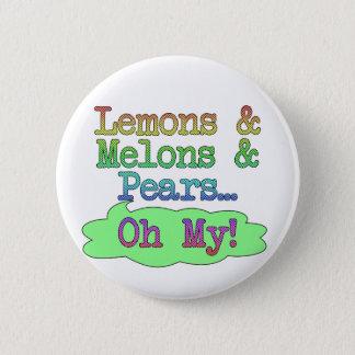 Citroenen, Meloenen, Peren, Mijn Oh! Ronde Button 5,7 Cm