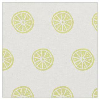 Citrusvrucht/citroen gedrukte stof
