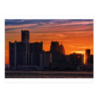 Cityscape 0516 van Detroit Briefkaart