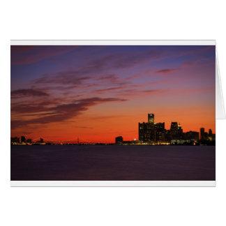 Cityscape 0552 van Detroit Wenskaart