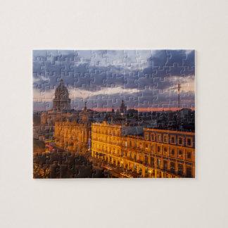 Cityscape bij zonsondergang, Havana, Cuba Puzzel