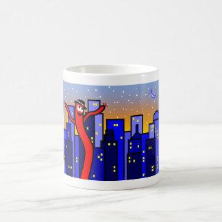 Cityscape Man van de Ballon van de Illustratie het Koffiemok