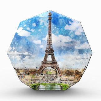 Cityscape Parijs, Eiffel van de waterverf naar Acryl Prijs