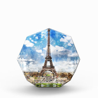 Cityscape Parijs, Eiffel van de waterverf naar Prijs