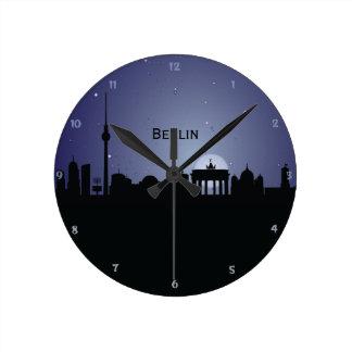 CityScape van Berlijn de Klok van de Muur van het
