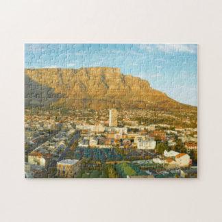 Cityscape van Cape Town met de Berg van de Lijst Puzzel