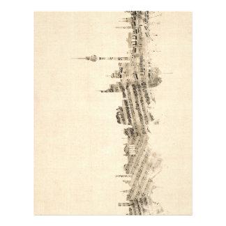 Cityscape van de Muziek van het Blad van de Flyer 21,6 X 27,9 Cm
