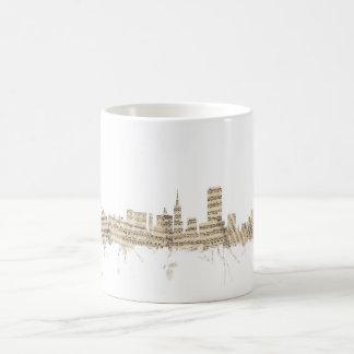 Cityscape van de Muziek van het Blad van de Koffiemok